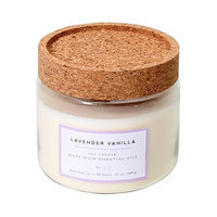 Glass Jar with Cork Lid Candle Lavender Vanilla Smith & Hawken