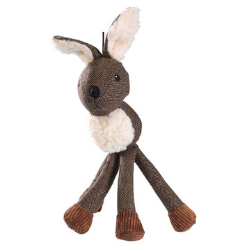 House of Paws Harris Tweed Long Legs Stag Dog Toy, Brown