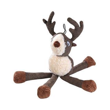 House of Paws Harris Tweed Long Legs Fox Dog Toy, Brown