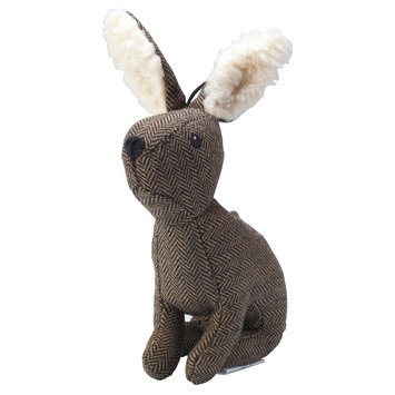 House of Paws Harris Tweed Plush Stag Dog Toy, Brown