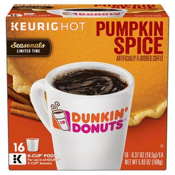Dunkin' Donuts Pumpkin Spice K-Cup Pods 16ct