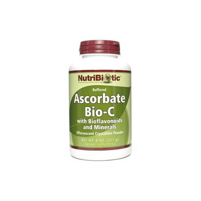Nutribiotic - Ascorbate Bio-C Crystalline Powder with Bioflavonoids and Minerals - 8 oz.