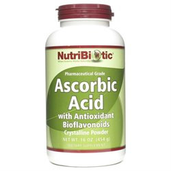 NutriBiotic Ascorbic Acid with Antioxidant Bioflavonoids - 16 oz