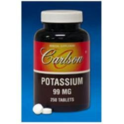 Carlson Laboratories Potassium 99 MG - 250 Tablets - Other Minerals
