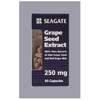 SEAGATE Seagate Grape Seed Extract 250 mg, (90 Veg capsules)
