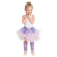 Little Adventures Fluffy Tutu Lilac-Pink w- Bow Leg Warmers