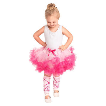Little Adventures Fluffy Tutu Pink-Hot Pink w- Ballerina Leg Warmers