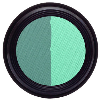 Real Purity Natural Duo Eye Shadow (Aqua/Peacock) - 0.2 oz, Aqua Peacock