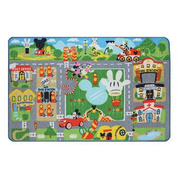 Ga Gertmenian Disney Mickey Mouse Club House Mickey Town Game Rug