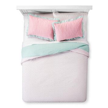 Pam Grace Creations Aqua Peacock Comforter Set