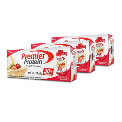 Premier Protein Strawberries & Cream Protein Shake - 12 Count