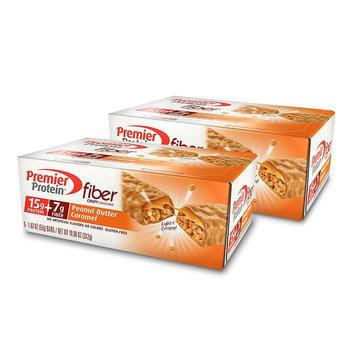 Premier Protein Peanut Butter Caramel Fiber & Protein Bars - 12 Count