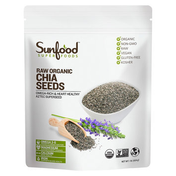 SunFood Organic Chia Seeds Raw 1 lb