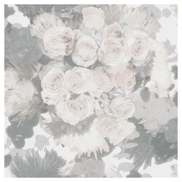 Devine Color Bouquet Peel and Stick Wallpaper Mirage- Sample, Lt Grey