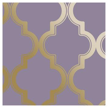 Devine Color Cablestitch Peel and Stick Wallpaper Starlight- Sample, Lt Grey