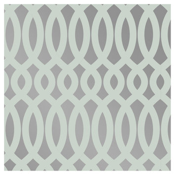 Devine Color Scroll Peel and Stick Wallpaper Horizon and Sterling- Sample, Lt Grey