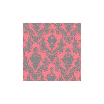 Tempaper Damsel Self-Adhesive Removable Wallpaper Coral- Sample, Coral Berry
