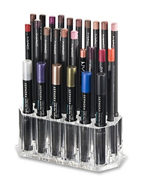 Acrylic Eye/Lip Liner Organizer & Beauty Care Holder Provides 26 Space Storage   byAlegory (Clear)