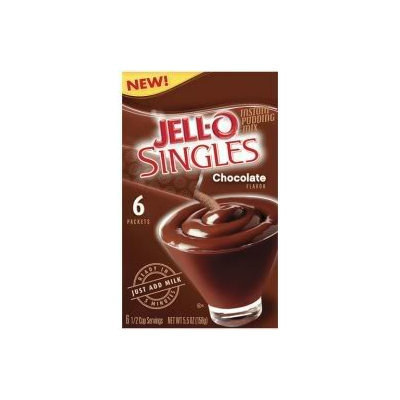 JELL-O Singles Chocolate Instant Pudding Mix