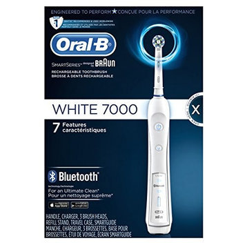 Oral B Oral-B White 7000 SmartSeries Electric Rechargeable Power Toothbrush with Bluetooth, Powered by Braun