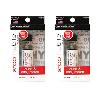 2 Pack Stop The Bite Nail Biting & Thumb Sucking Deterrent Nail Polish by Onyx Professional