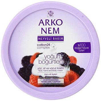 Arko Nem Yoghurt and Blackberry Cream Face Hand and Body Cream