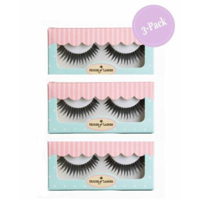 House of Lashes , Dollface False Eyelashes 3 Combo Pack , Premium Quality False Eyelashes for a Great Value, Cruelty Free , Eco Friendly