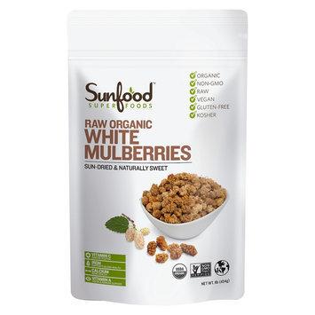 Sunfood Superfoods - Organic White Mulberries Raw - 1 lb.