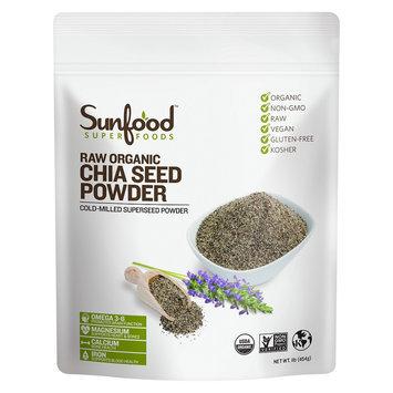 SunFood Organic Chia Seed Powder Raw 1 lb