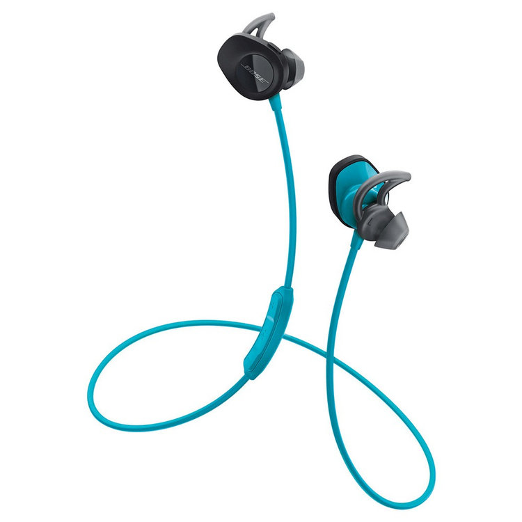 Bose SoundSport In-Ear Wireless Headphones - Blue/green AQUA