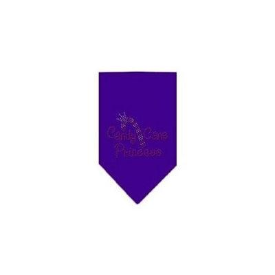 Ahi Candy Cane Princess Rhinestone Bandana Purple Large