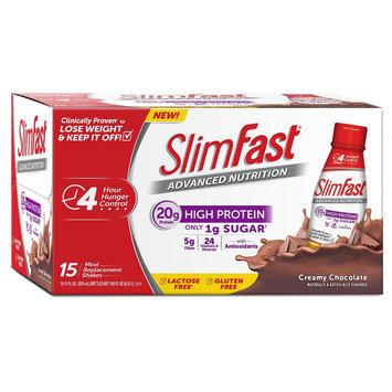 Slim-fast SlimFast Advanced Nutrition Creamy Chocolate Protein Shake - 15 Count