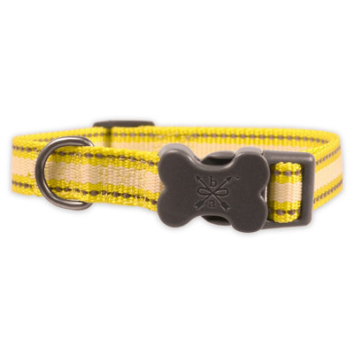 Bow & Arrow Glow-in-the-Dark & Reflective Collar - Neon Yellow (M)