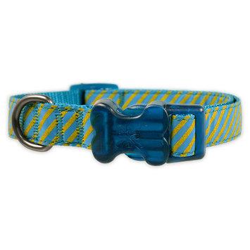 Bow & Arrow Reflective Print Collar - Aqua Blue (L)