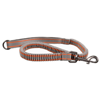 Bow & Arrow Accordion Stretch Leash - Gray/Orange, Grey