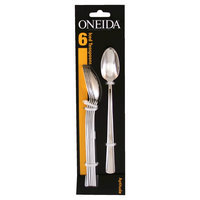 Oneida Aptitude Tall Drink Spoons- Set of 6, Medium Silver