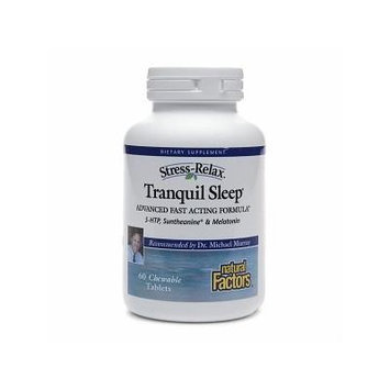 Natural Factors Stress-Relax Tranquil Sleep 60 chewable tablets