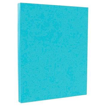 Jam Paper & Envelope 8 1/2 x 11 Brite Hue Blue Recycled 65lb Cover Cardstock - Pack of 50