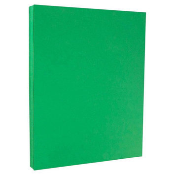 Jam Paper & Envelope 8 1/2 x 11 Brite Hue Green Recycled 65lb Cover Cardstock - Pack of 50