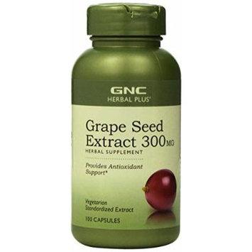 GNC Herbal Plus Standardized® Grape Seed Extract 300mg 100 Capsules (2 PACKS)