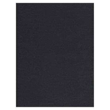Jam Paper & Envelope 8 1/2 x 11 Black Linen 80lb Cover Cardstock - 50 sheets per pack