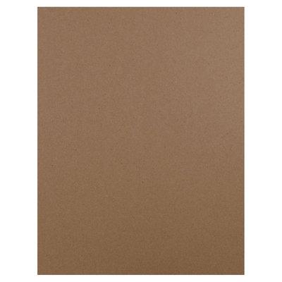 Jam Paper & Envelope 8 1/2 x 11 Brown Kraft Paper Bag 100% Recycled 60lb Cover Cardstock - 50 sheets per pack