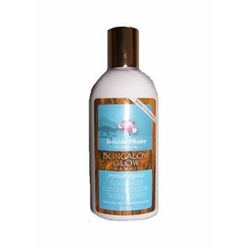 Hawaiian Bungalow Glow Premium Organic Coconut Butter Body Lotion 2 Bottles Pikake & Water Lily