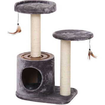 Petpals Group PetPals Accleration Interactive Multi-level Cat Condo with Hideout and Lookout Perch