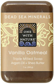 One With Nature Vanilla Oatmeal Dead Sea Mineral Soap
