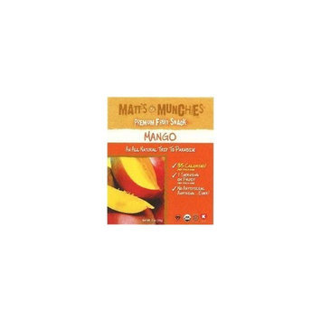 Matt's Munchies Organic Mango Fruit Snack 1oz pack (pack of 12)