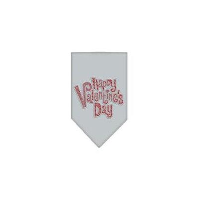 Ahi Happy Valentines Day Rhinestone Bandana Grey Large