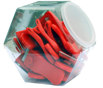 Walter R Tucker Enterprises Lt E-Z Red 20 Pack Display Jar of 4 inch Compact Scraper