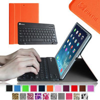 Fintie SmartShell Cover with Wireless Bluetooth Keyboard Case for Apple iPad Air / iPad 5 (5th Generation), Orange