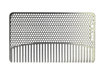go-comb Premium Ultra Thin Wallet Comb Fine Tooth Stainless Steel